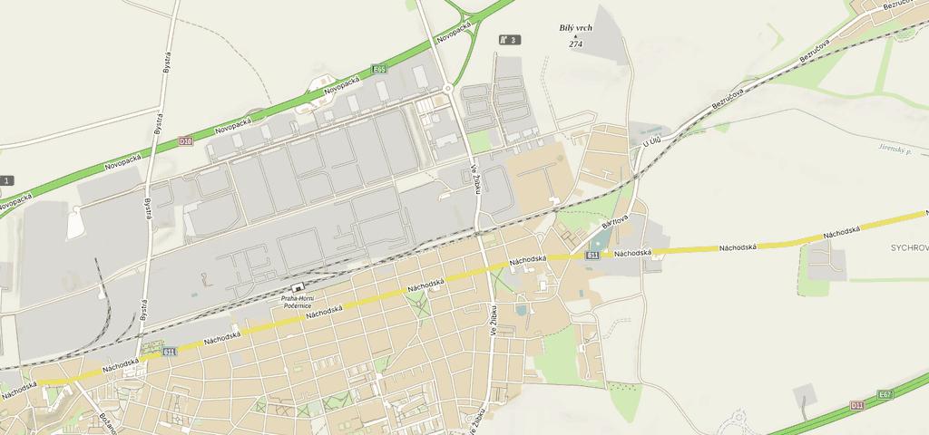 Mapa při tisku